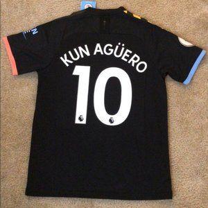 NEW Kun Aguero Man City Away 19/20 Jersey
